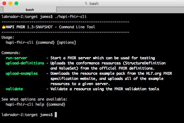 Command Line Interface Cli Tool Hapi Fhir Documentation